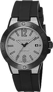 [ブルガリ] 腕時計 ディアゴノマグネシウム シルバー文字盤 DG41C6SMCVD メンズ 並行輸入品 ブラック