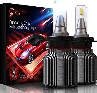 LIGHTENING DARK H7 LED Headlight Bulb, Fanless CSP Y19 Chips Conversion Kit - 8000LM & 6500K Xenon White (Pack of 2 Bulbs)