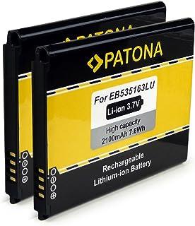 PATONA 2X Bateria EB535163LU Compatible con Samsung Galaxy Grand i9080 Neo i9060 DuoS i9082