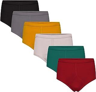 Keanu Mens Y-Front Underwear - 6 Pack - 100% Pure Interlock Cotton - Assorted, Blue, Black & White Colour Packs - S M L XL...