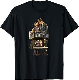 Marvel WandaVision Wanda & Vision Behind the TV Screens T-Shirt