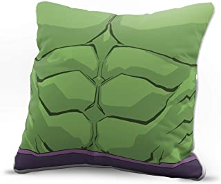 Jay Franco Marvel Avengers Hulk Bust Decorative Pillow Cover - Kids Super Soft 1-Pack Throw Pillow Cover - Measures 15 Inches x 15 Inches (Official Marvel Product)