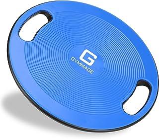 バランスボード Gymmage 体幹 トレーニング用 滑り止め 40CM エクササイズ 耐荷重150kg 運動不足 リハビリ 持ち運び便利 ケガ予防 ダイエット