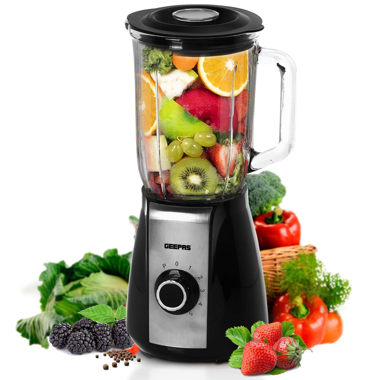 1.5L Glass Blender with 5 Speed Setting