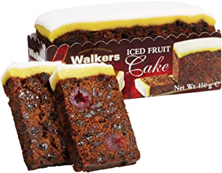 Walkers Iced Rich Fruit Cake (450g / 15.87oz) - Best by Jan 30th