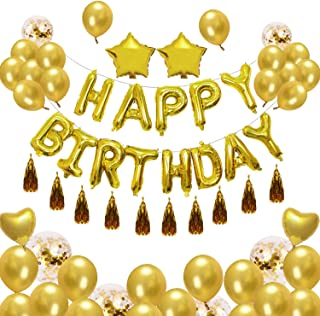 Best Happy Birthday balloon Set -High quality Birthday Balloons Set For Party Gold