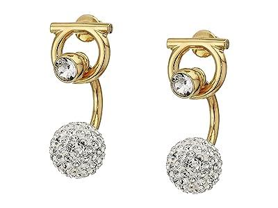 Salvatore Ferragamo Gancio Earrings (Oro/Strass) Earring
