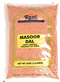 Rani Masoor Dal (Indian Red Lentils) Split Gram 8lb (128oz) Bulk ~ All Natural | Gluten Friendly Ingredients | NON-GMO | V...