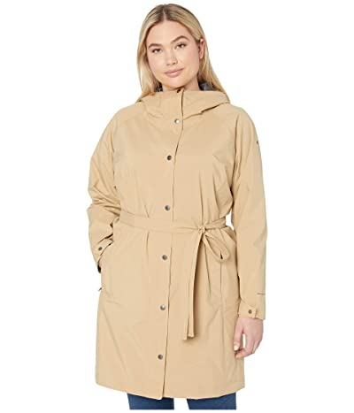 Columbia Plus Size Here and Theretm Long Trench Jacket (Beach) Women