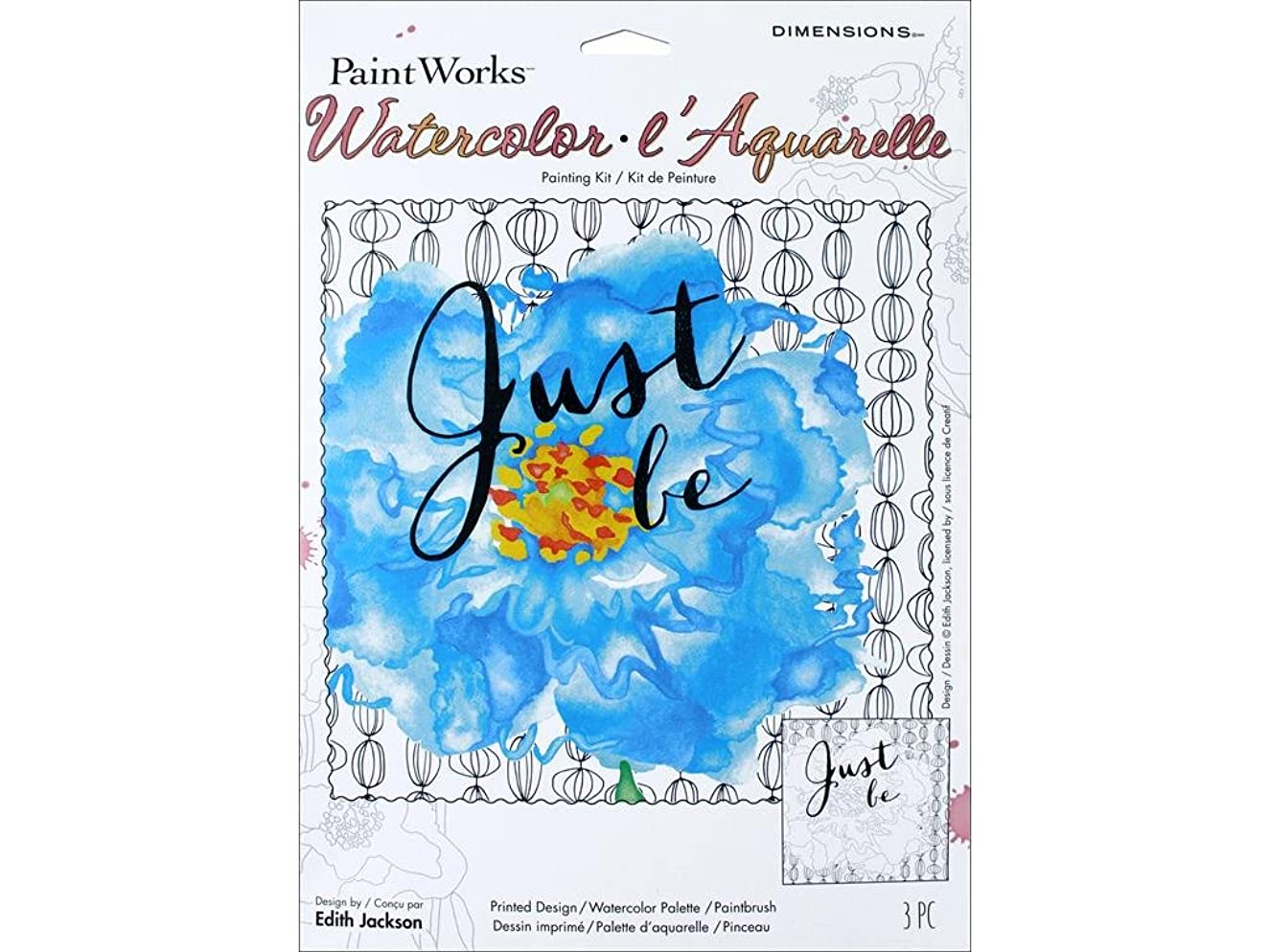 Dimensions 'Just Be' Watercolor Paint By Number Kit for Adults, 9'' x 12''