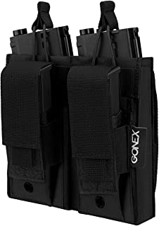 Gonex Double Molle Mag Pouch, Tactical Magazine Pouch Open Top Rifle Kangaroo Pistol Pouch for M4 M16 AK AR Magazine