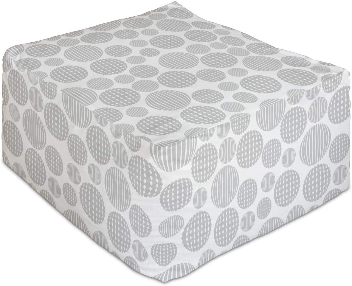 Deluxe Lunarable Abstract Directly managed store Rectangle Pouf Concept w Geometry Minimalist
