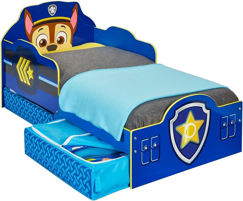 Paw Patrol Chase Toddler Bed Storage plus Foam Mattress