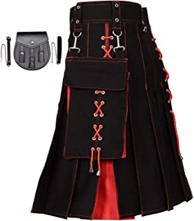 black and red kilt
