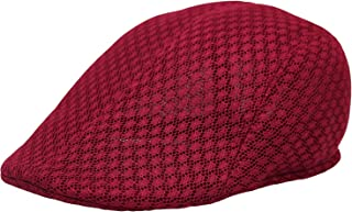 WITHMOONS Breathable Mesh Summer Hat Newsboy Ivy Cap Cabbie Flat Cap UZ30053