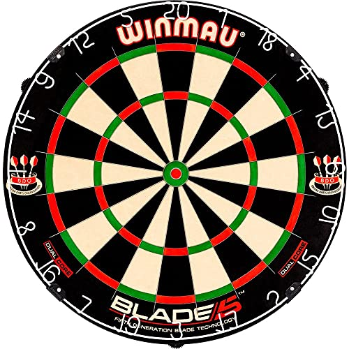 Winmau Blade 5 Dual Core Dartboard - 5th Generation with Rota Lock System - Blade 5 Dual Core