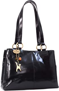 Catwalk Collection Handbags - Leder - Umhängetasche/Große Tasche - BELLSTONE