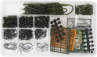 Carp Fishing Hair Rigs Tackle Kit Box,Including Boilie Stops,Sleeves,Carp Safety Lead Clips,Quick Change Swivel clip,Sinking Rig Tube,Curve Shank Hook,Lead Core