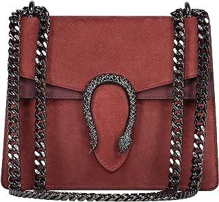 9624019ddf #MYITALIANBAG RACHEL Sac à main Baguette Pochette, sac à bandoulière avec  chaîne en nickel