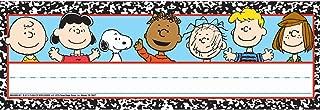 Eureka Back to School Peanuts Classroom Student Name Plates for Teachers, 36pc, 9.62 '' W X 6.5'' H