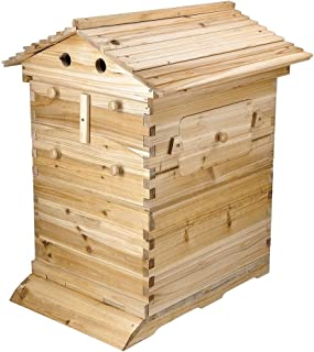 Yeshom Beehive 20 Frame Wooden Complete Box Kit Langstroth Hive Honey Keeper Beekeeping