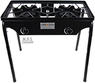 featured product Double Two Burner Stove Heavy Duty Outdoor Stand Portable BBQ Grill Camping