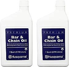 Husqvarna 610000023 Bar & Chain Oil, Quart (2 Pack)