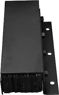 Laminated Flat Plate One Side 2 Holes Rubber Dock Bumper 10 Length Horizontal Mount 10 Depth 14 Width Rectangular