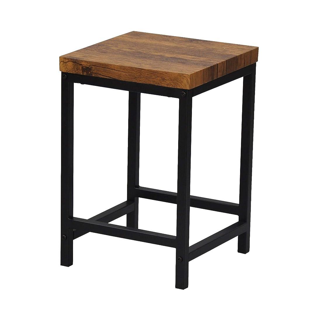 少なくとも法廷を通してエイ?アイ?エス (AIS) サイドテーブル ブラウン 30×30×44cm ブロンクス ABX-700
