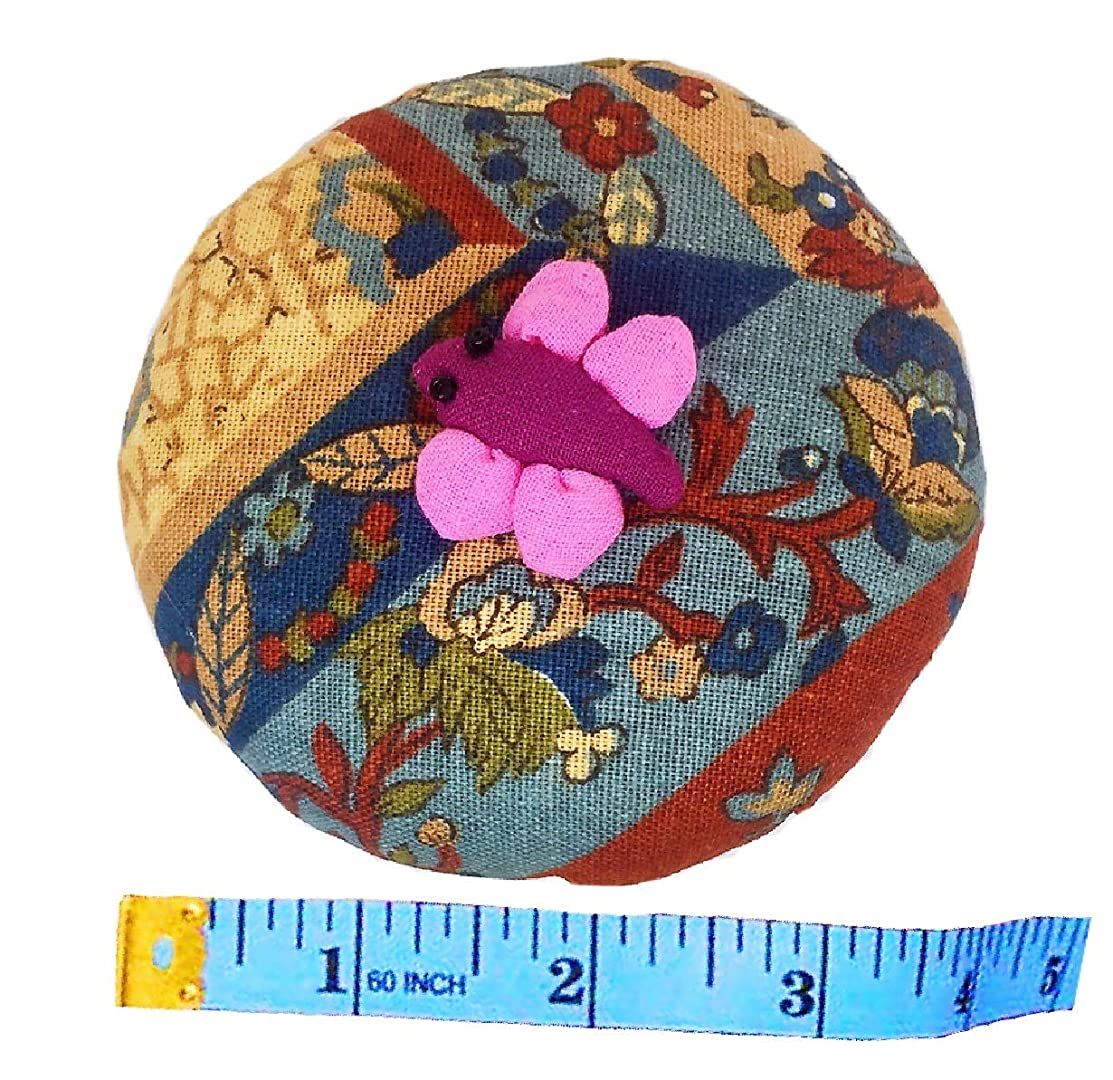 PeavyTailor Emery Pin Cushion 10oz Extra Large Keep Needles Clean and Sharp Needle Storage Organizer - Dragonfly Deeppink