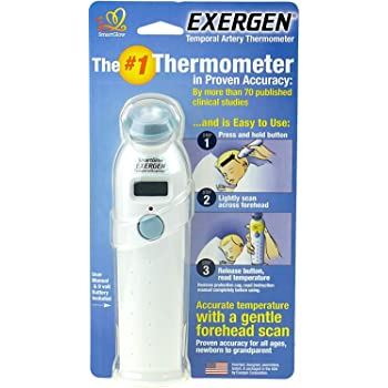 Exergen TEMPORAL ARTERY THERMOMETER TAT-2000 SCANNER PROFESSIONAL MODEL