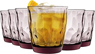 Bormioli Rocco Diamant-Double Old Fashioned Tumbler Gläser Set - 390 ml - Purple - Packung mit 24