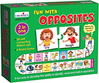 Creative's Educational Fun with Opposites |0274| 25 self Correcting Match ups and a Board Game