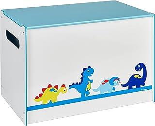 Worlds Apart Dinosaures Enfants Boîte à Jouets-Coffre de Rangement pour Chambre d'Enfant avec Couvercle par HelloHome
