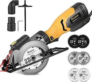 Sponsored Ad – Circular Saw,ginour 750W 3600RPM Mini Circular Saw with 6 Blades(117-125mm), Cutting Depth 0-48mm, Cutting ...