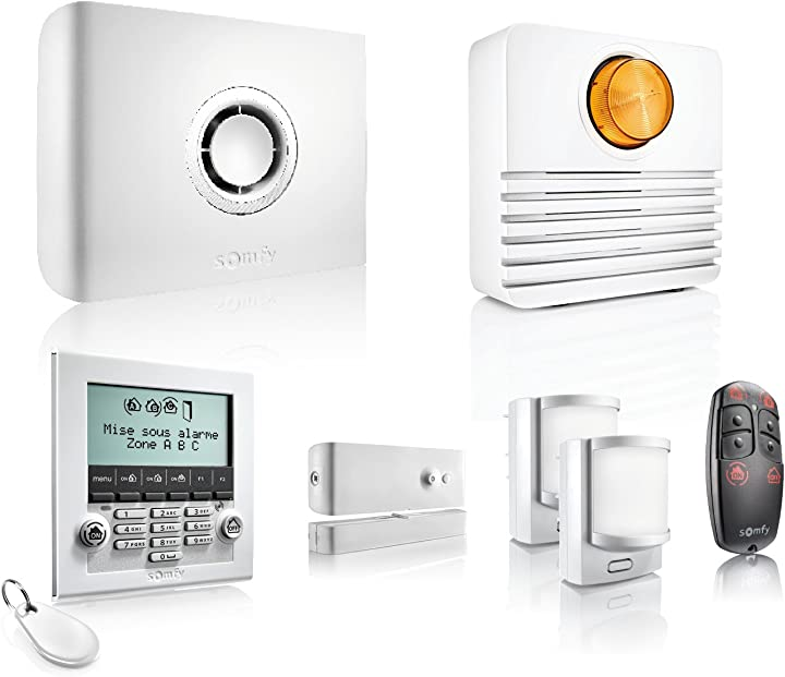 Sistema di allarme wireless protexiom ultimate gsm, bianco somfy 2401427