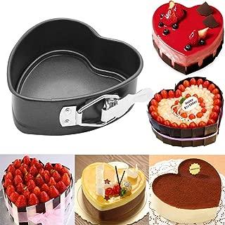 Leoy88 Wedding Decorating Baking Tool Heart-Shaped Cake Tin Non Stick Loose Base Baking Pan Tray