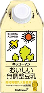 キッコーマン おいしい無調整豆乳 500ml×12本