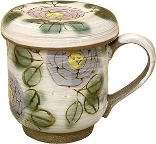 Rose (purple) with lid mug (with tea strainer) 40918 (japan import)