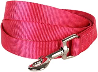 "Blueberry Pet 19 Colors Durable Classic Dog Leash 5 ft x 3/8"", French Pink, X-Small, Basic Nylon Leashes for Puppies"
