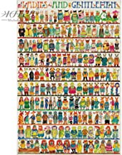 kkxka wooden Jigsaw Puzzles Ladies And Gentlemen Cartoon Animals Educational Toys Painting Decor(1000 Pieces)