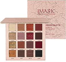 VANELC Professional Eyeshadow Palette Makeup,Matte Shimmer 16 Colors,Highly Pigmented & Long Lasting,Velvet Texture Blendable Eyeshadow Palette (Golden)