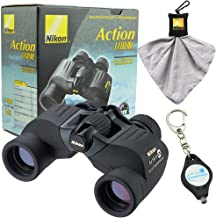 Nikon 7237 Action 7x35mm EX Extreme All-Terrain Binoculars Bundle with Nikon Microfiber Cleaning Cloth and Lumintrail Keychain Light