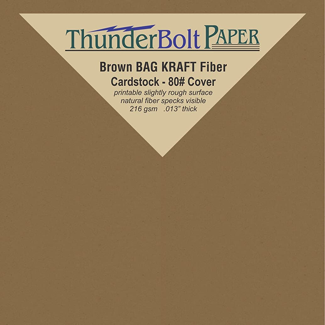 50 Brown Bag Colored Cardstock Paper Sheets - 4 X 4 inches Small Square Card Size – 80 lb/Pound Cover|Card Weight 216 GSM - Natural Kraft Fiber with Darker Specks - Slightly Rough Finish