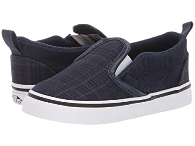 Vans Kids Slip-On V (Infant/Toddler) ((Suiting) Dress Blues/True White) Boys Shoes