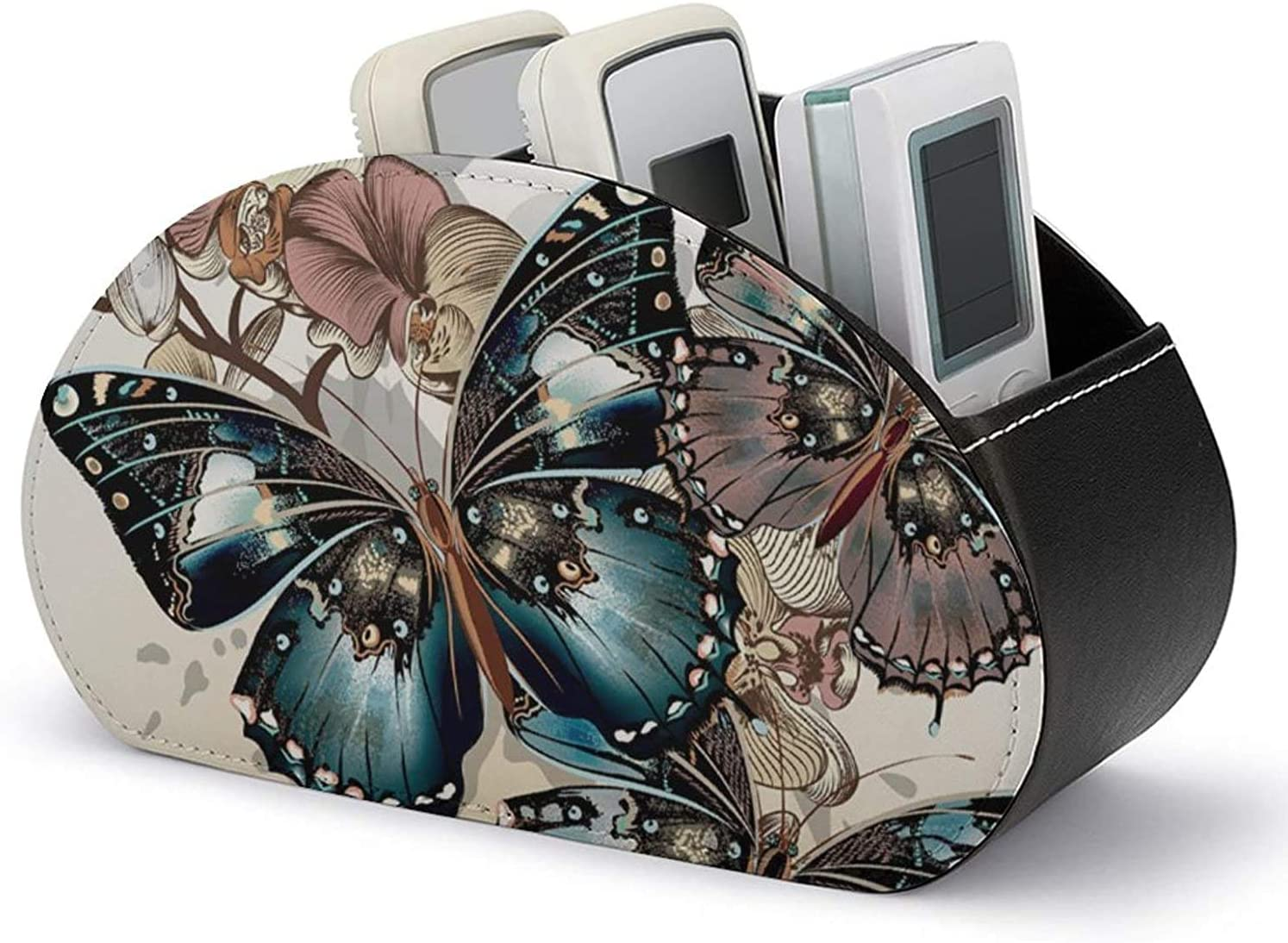 Remote Kansas City Mall Control Holder PU Stor Sale item Leather Butterfly Multi-Functional