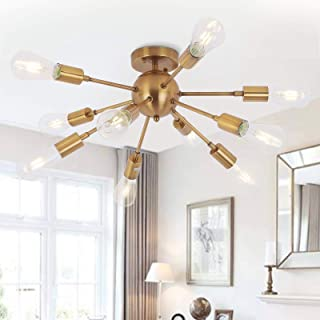 Sputnik Lustre Suspension Moderne 10 Lumières Industriel Vintage Suspension Luminaire Lampe Éclairage Pendentif pour Chamb...