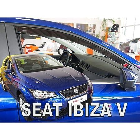 J J Automotive Windabweiser Regenabweiser Für Seat Ibiza Iv 6j 3 Türer 2008 2017 2tlg Heko Dunkel Auto