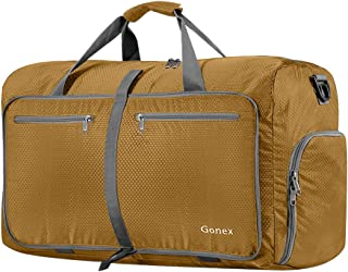 Gonex 60L Foldable Travel Duffel Bag Water & Tear Resistant, Gold