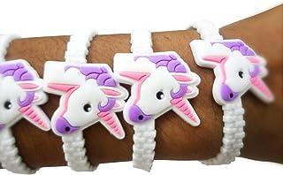 Party Propz Unicorn Wrist Band Or Unicorn Bracelet for Unicorn Theme Birthday Return Gifts OR Return Gifts for Kids (Set o...